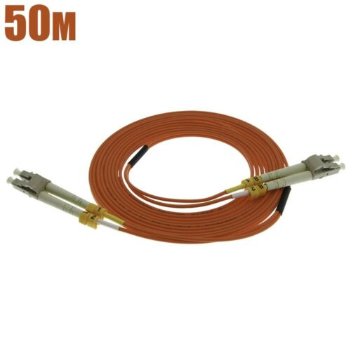 50m LC-LC Duplex 62.5//125 Multimode Fiber Optic Optical Cable Patch Cord OM2