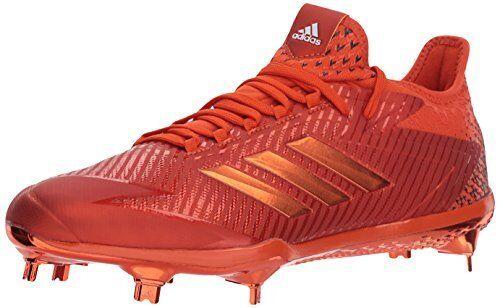 Adidas Men's Adizero Afterburner Afterburner Afterburner 4 Baseball shoes, Collegiate orange, FTWR White, f6f5d5
