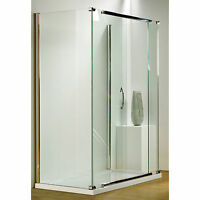KUDOS INFINITE STRAIGHT SLIDING DOOR SHOWER ENCLOSURE 8MM GLASS BATHROOM PANEL