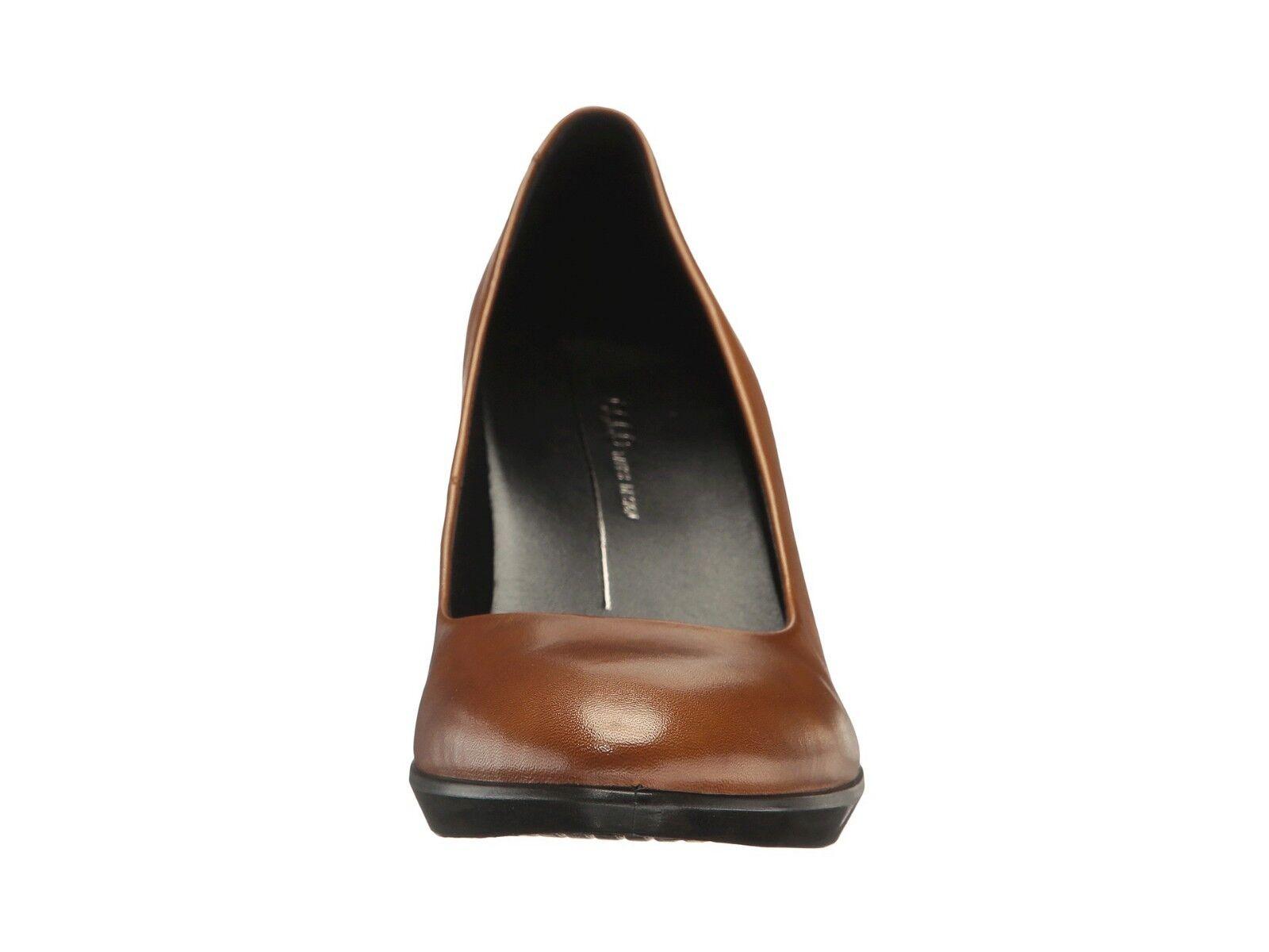 Women's ECCO size 38 (US (US (US size 7) Brown Plateau Shape 55 Heel Pumps shoes NEW 1e6e06