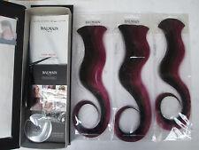 Balmain Paris Double Hair Volume Colour 30cm extension 3pcs Blackberry Purple