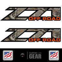 Z71 Off Road Realtree Camo & Orange Decal Stickers Chevy Silverado 2002 - 2007