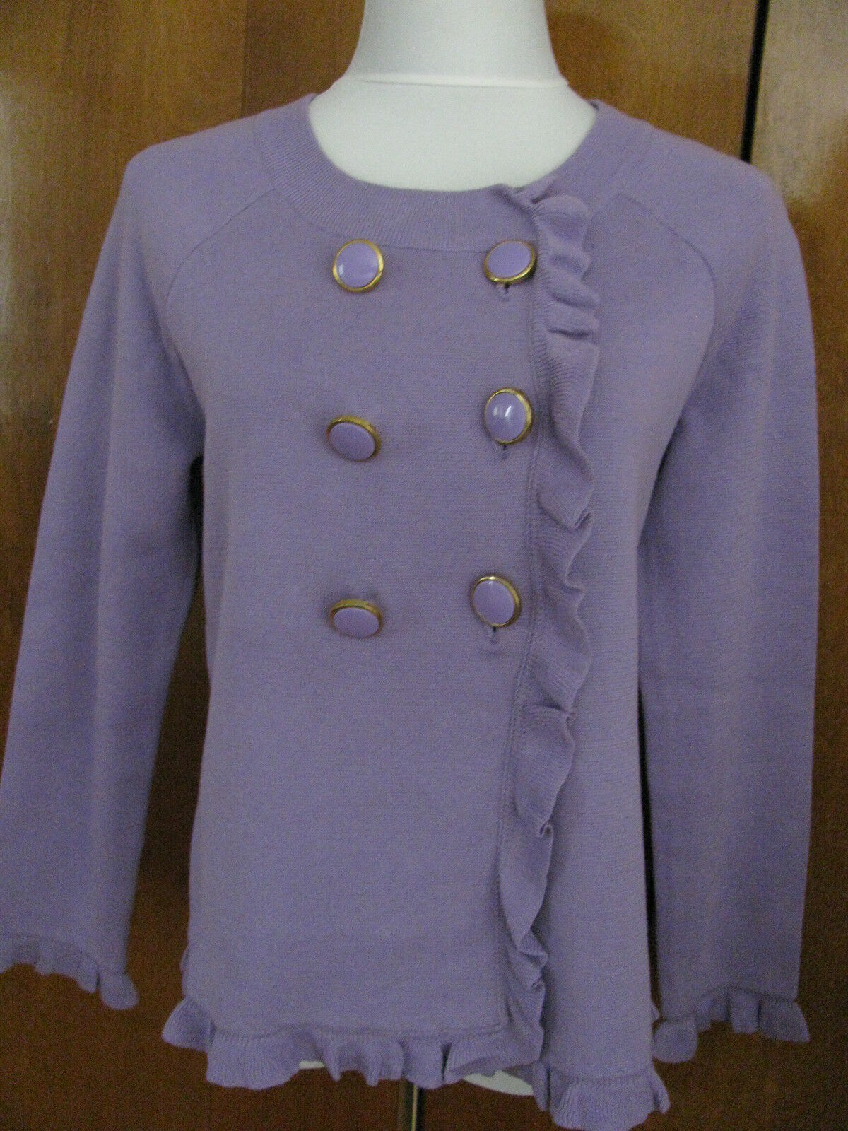 New w tags Kenar women's cotton purplec stylish cardigan size Large