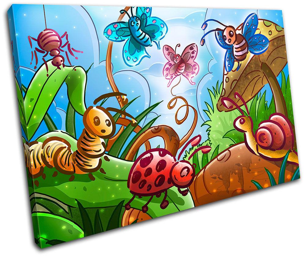 Garden Animals For Kids Room SINGLE TOILE murale ART Photo Print