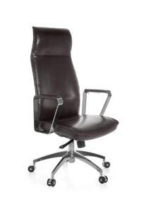 Chaise-de-bureau-pivotante-siege-de-direction-Avila-en-cuir-veritable-brun