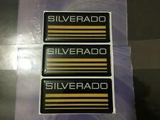 3x New Custom Epoxy Resin Silverado Emblem Pillar Cab Badge Yellow