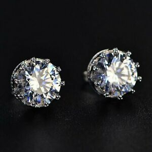1-5Ct-Round-Moissanite-Crown-Stud-Earrings-14K-White-Gold-Over-Labor-Day-Sale