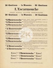L' ESCARMOUCHE Georges DARIEN Anarchiste Journal Satirique LAUTREC Ibels 1893