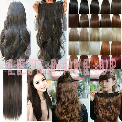 "18""22""24""26"" Long new 8Pcs Full head clip in on hair extensions ponytail 8 color"