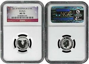 2011-Australia-1-10-Silver-Koala-NGC-MS70-Flag-Label