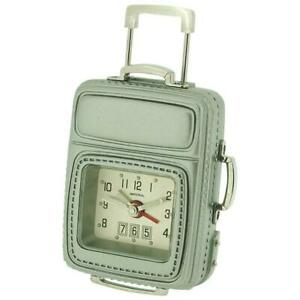Miniature-Frequent-Flyer-Cabin-Luggage-amp-Alarm-Novelty-Collectors-Clock-IMP608