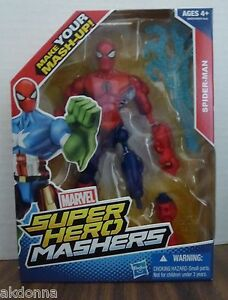 marvel super hero mashers spider man nip make your own mash up