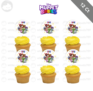 12 Muppet Babies Cupcake Cake Topper Food Pick Favor Party ...