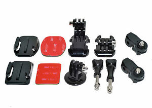 Sony HDR-AS30V AS15 20 100V Action GoPro Camera Adapter Base Adhesive Mount Set