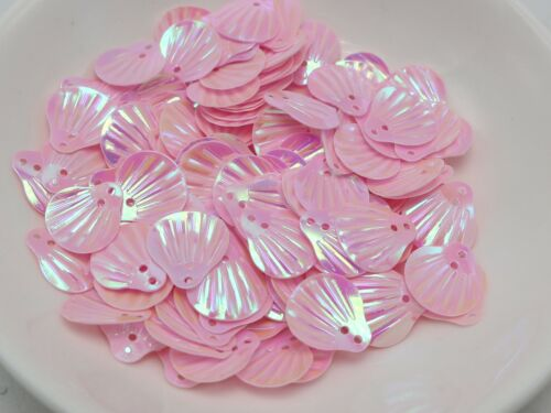 1000 Pink Shell loose sequins Paillettes Top Hole sewing Wedding craft