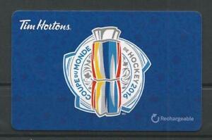 Reloadable-Tim-Horton-039-s-Gift-French-Card-Coupe-du-Monde-de-Hockey-2016