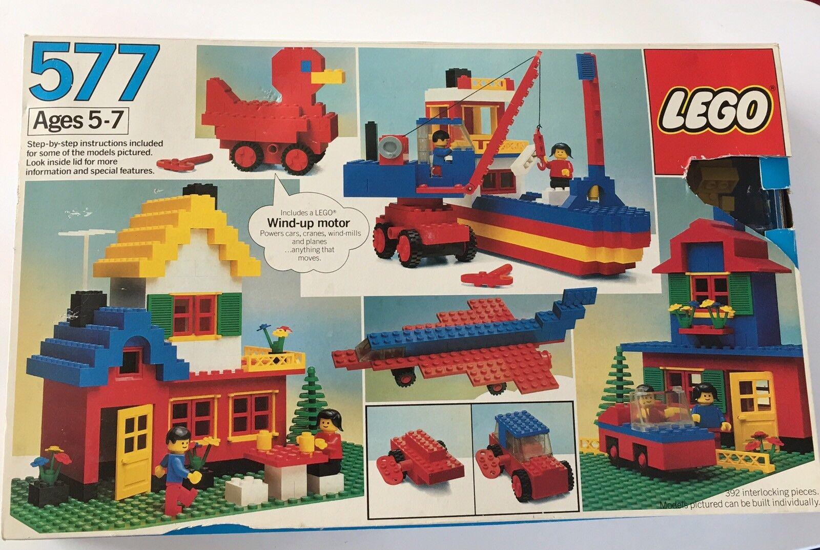 Vtg Lego set 577 Basic Building Set 1983 392 Pieces Minifigs Motor