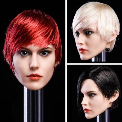"""Échelle 1//6 YMT015 Sharp Cheveux Court Femme HEAD SCULPT FOR 12/"""" Figurine PHICEN"""