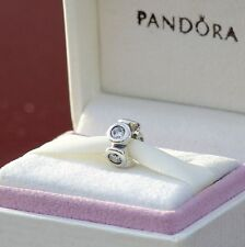 Authentic Pandora 790226CZ Lights Clear CZ Spacer Sterling Silver RETIRED Charm