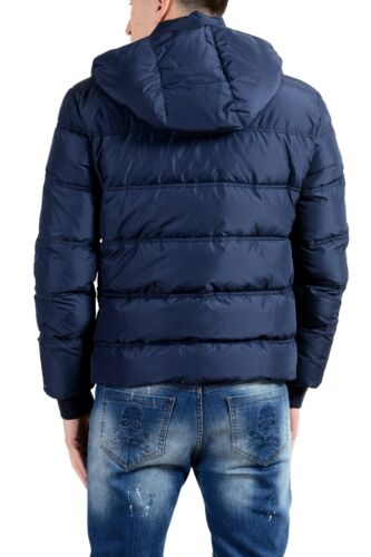 Details about  /Versace Collection Men/'s Down Blue Full Zip Hooded Parka Jacket Size XS S 2XL