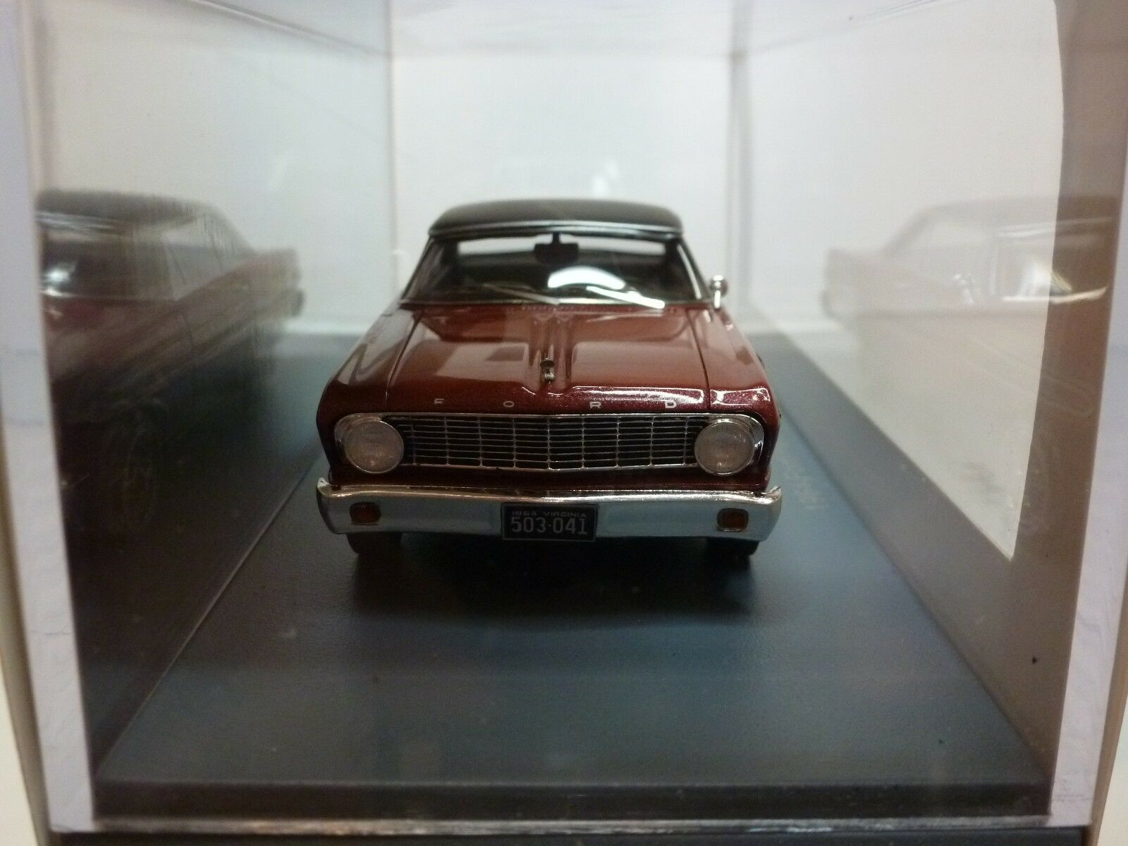 NEO MODELS 45674 FORD FALCON FUTURA SPRINT SPRINT SPRINT 1964 BURGUNDY 1 43 - VERY GOOD IN BOX 375f8e