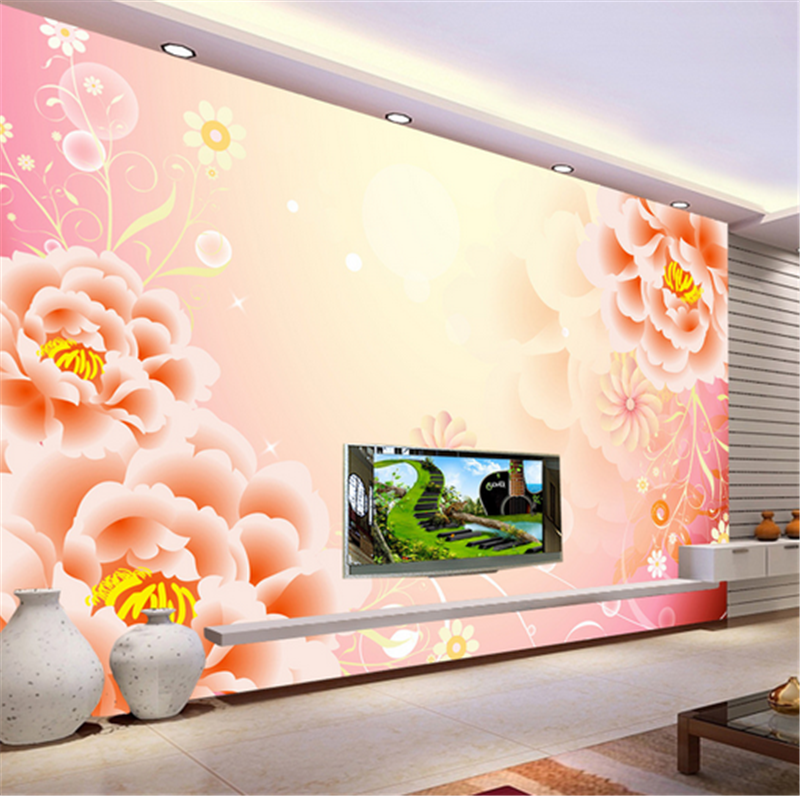 3D Orange Dream Flowers 839 Wallpaper Mural Paper Wall Print Wallpaper Murals UK