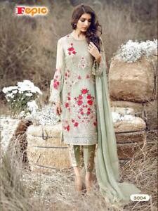 033bb3f7ae4 Details about DESIGNER HEAVY WORK PAKISTANI SALWAR SUIT KAMEEZ PARTY WEAR  INDIAN WEDDING DRESS