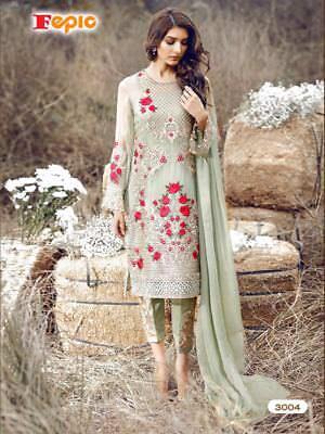 DESIGNER HEAVY WORK PAKISTANI SALWAR KAMEEZ INDIAN WEDDING PARTY WEAR DRESS suit