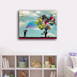 70-90-3cm-Graffiti-Art-Canvas-Prints-Framed-Wall-Art-Home-Decor-Gift-Painting-VI