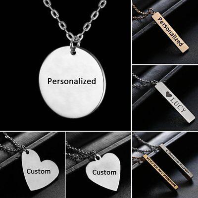 Gold Color Necklace Women DIY Customizable Engravable ...  |Diy Custom Jewelry Pendant
