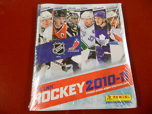 Hockey-2010-11-Sticker-Album-Panini-Sealed-with-all-stickers-New-Rare-NHL-LNH