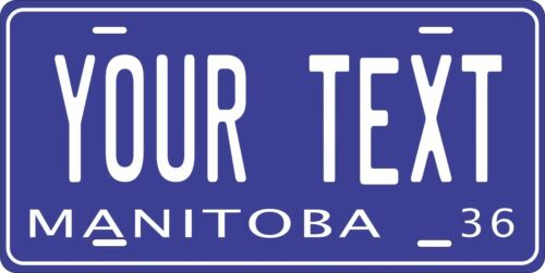Manitoba Tag  Personalized Auto Car Motorcycle Moped Bike Bicycle License plate