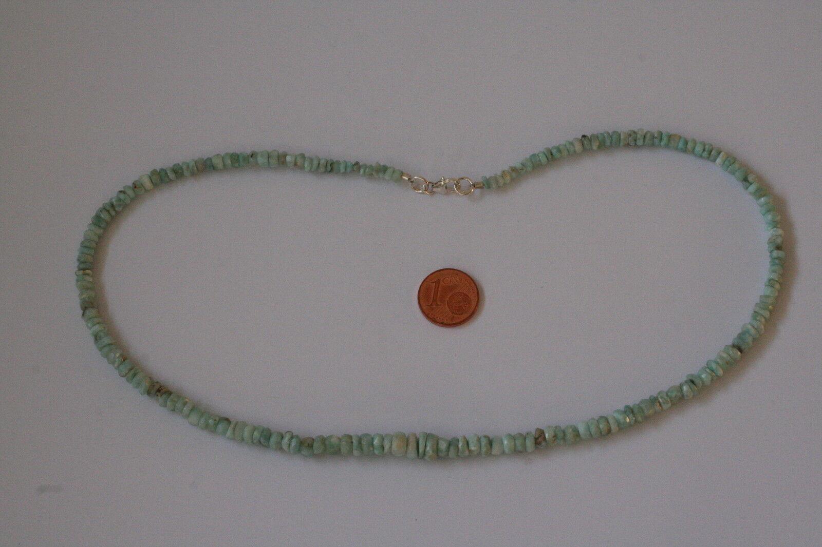 Larimar-Kette(Linse, fac. L=45,5 cm) J-0134 J