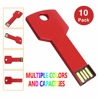 10x 1g/2g/4g/8g Metal Key Model Usb 2.0 Flash Drive Memory Sticks Thumb Drives