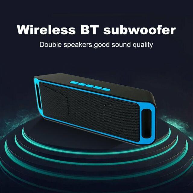 Portable Bluetooth Speaker USB Flash FM Radio Stereo Super Bass TF MP3 Player