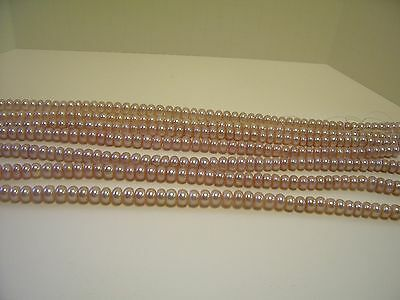5016 QUALITY NATURAL CHAMPAGNE 8 MM FRESHWATER BUTTON PEARL JEWELRY BEAD STRAND
