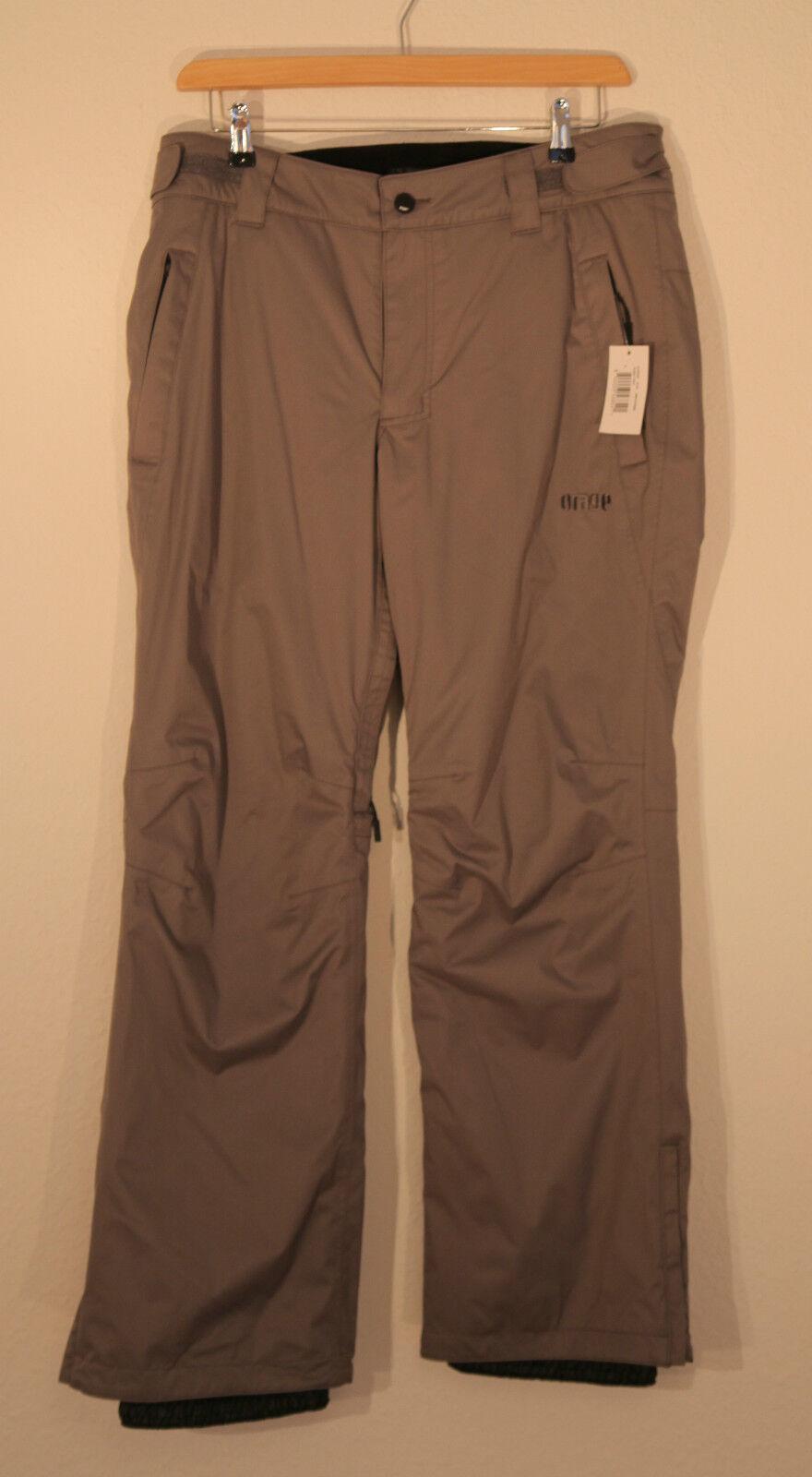 NUOVO Orage Men Uomo Freestyle sci FREESKI pantaloni Pant Yorkton Quest DARK grigio L