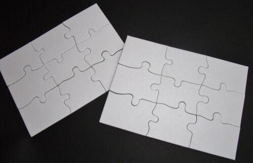 2 Blanko Puzzle 9 teilig Din A 6 Kindergeburtstag aurednik Einladungs Karten
