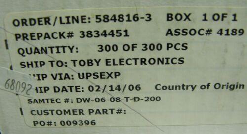 """25x Samtec 12 way 2 x 6 0.1/"""" mezzanine pin header strip Samtec DW-06-08-T-D-200"""