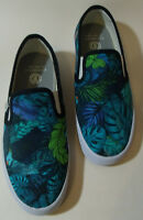 Element Uk 4.5 Shoes Trainers Surf Punk Beach Skateboard Blue Leaves Parrot