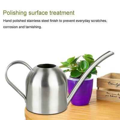 Indoor Small Watering Can Metal Galvanised Steel 500ml Narrow Spout Plants