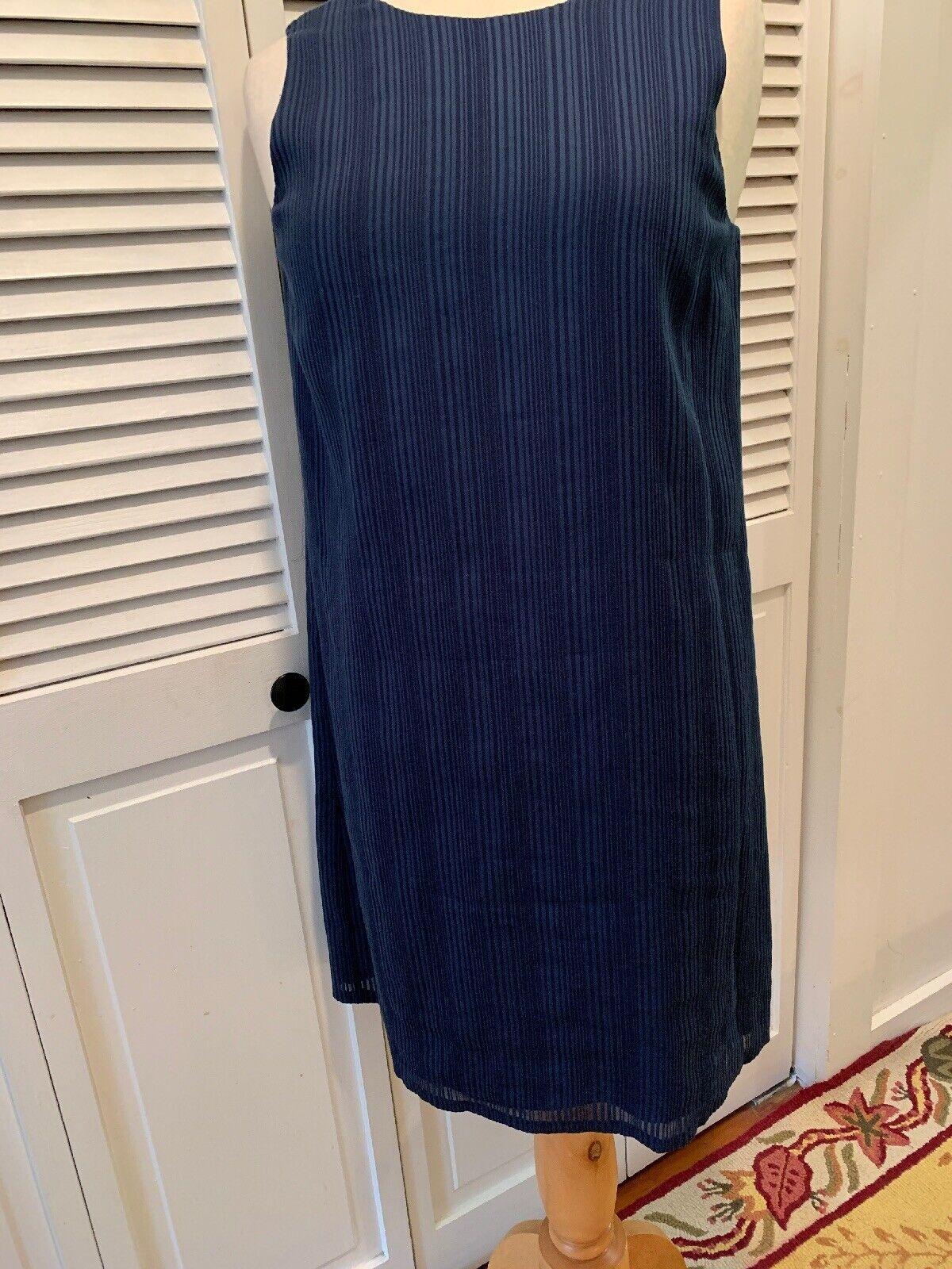Theory dress Brindina Cl Behemi Navy Shift Größe 4 NWOT Lined Back Zip &hook