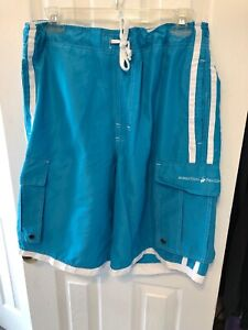 Beverly-Hills-Polo-Club-Shorts-Size-Large-Blue
