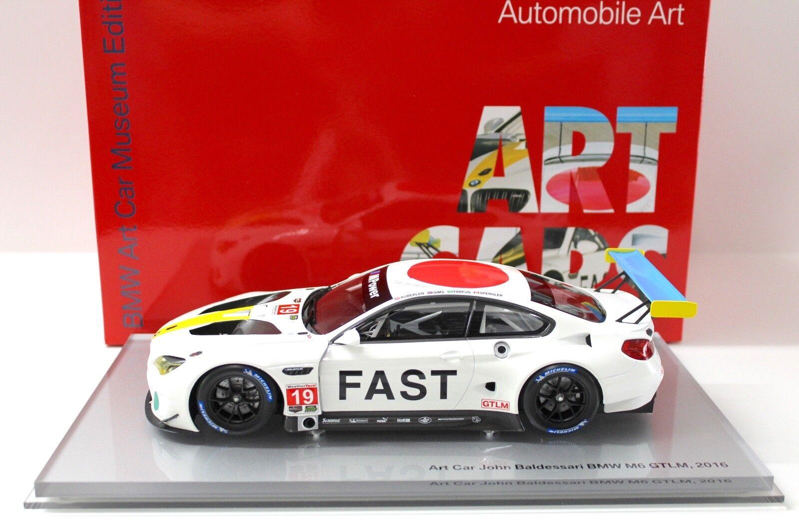 1 18 Kyosho BMW m6 GTLM 2016 Art Car John soon Sari NEW in Premium-modelcars