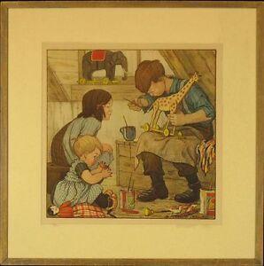 B-Midderigh-Bokhorst-Vintage-Lithograph-034-Winter-Work-034