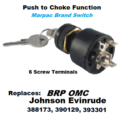 New Marpac Ignition Push-to-Choke Switches 6 Screw Terminals 7-1150