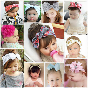 Baby-Girl-Lace-Flower-Rabbit-Bow-Headband-Hairband-Headwrap-Hair-Accessories