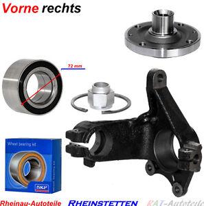 Achsschenkel-vorne-Rechts-SET-SATZ-SKF-Radlager-72-mm-Radnabe-Peugeot-206