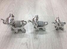 White And Silver Ceramic Elephant  Luxury Decorative Gift Romany Style !!!