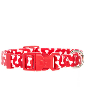 "New! Top Paw ""Red Bone"" Adjustable Dog Collar, (L) 18in"